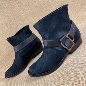 black booties JOE'S jeans ankle boots leather 7 M